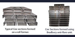 Cee sections with and without end flare