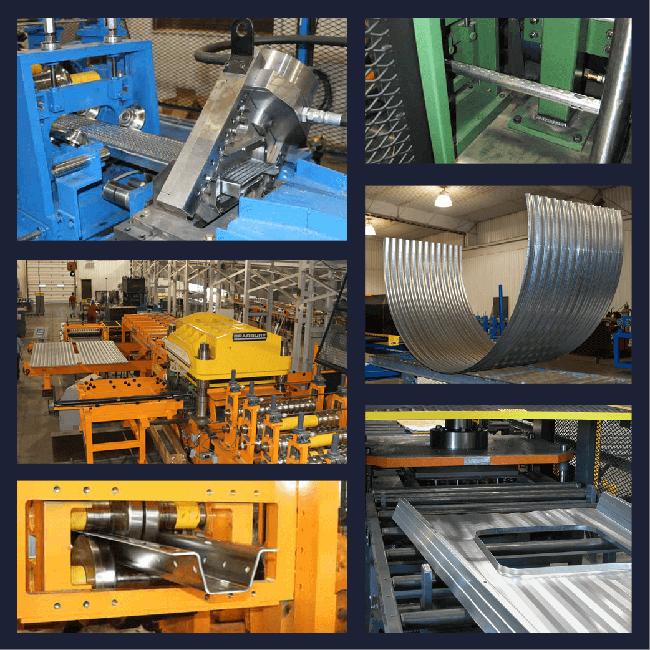 Bradbury Grain Bin Roll Forming Equipment to produce grain bin components