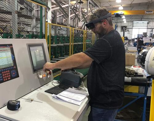 Bradbury Technician using HoloLens